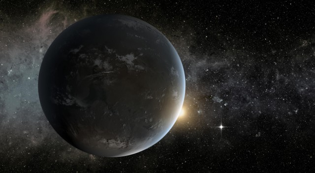 Most scientists believe that, if there's life out there, it'll probably be on Earth-like planets in the habitable zone -- like Kepler-62f (artist's impression)