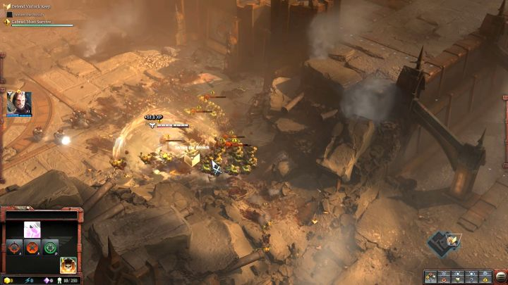 The beginning of the mission and the first usage of a special ability. - Mission 1 - The Defense of Varlock Keep - Campaign � walkthrough - Warhammer 40,000: Dawn of War III Game Guide