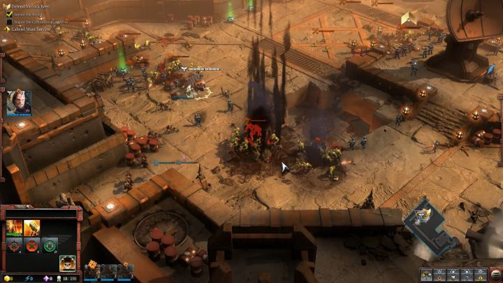 Watch over the Tactical Marines and Scouts. - Mission 1 - The Defense of Varlock Keep - Campaign � walkthrough - Warhammer 40,000: Dawn of War III Game Guide