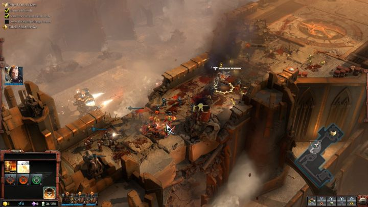 Journey through the narrow bridge is a perfect opportunity to abuse Agenlos abilities. - Mission 1 - The Defense of Varlock Keep - Campaign � walkthrough - Warhammer 40,000: Dawn of War III Game Guide