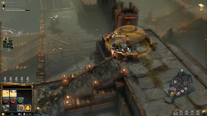 Enemies hidden in heavy cover are no match for Gorgutz. - Mission 2 - Destined for Greater Fings - Campaign � walkthrough - Warhammer 40,000: Dawn of War III Game Guide