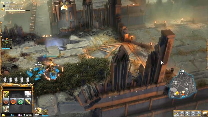 Use the bushes to avoid the enemy fire. - Mission 2 - Destined for Greater Fings - Campaign � walkthrough - Warhammer 40,000: Dawn of War III Game Guide