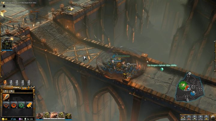 Its time to use Gorgutzs second ability, Spinnin Klaw. - Mission 2 - Destined for Greater Fings - Campaign � walkthrough - Warhammer 40,000: Dawn of War III Game Guide