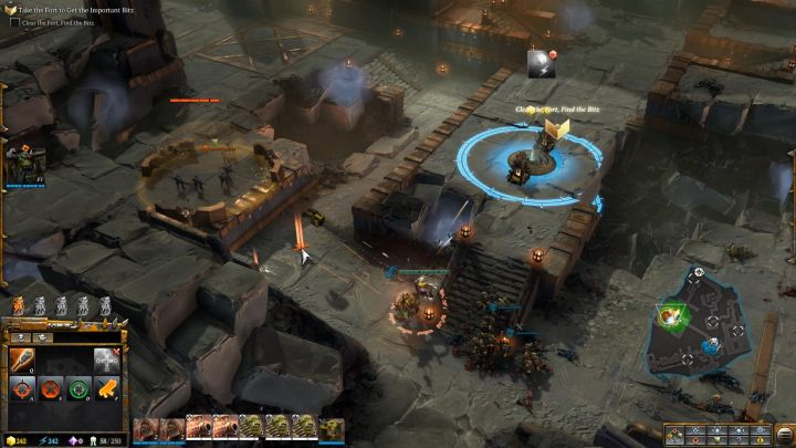 Capture the resource point and construct generators there. - Mission 2 - Destined for Greater Fings - Campaign � walkthrough - Warhammer 40,000: Dawn of War III Game Guide