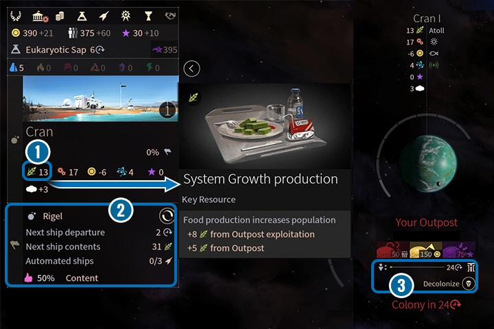 Getting colony status takes some time. - Colonization, migration and evacuation in Endless Space 2 - Gameplay basics - Endless Space 2 Game Guide