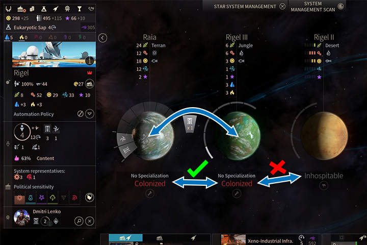 Inhabitants can only be moved between colonized planets within a system. - Colonization, migration and evacuation in Endless Space 2 - Gameplay basics - Endless Space 2 Game Guide