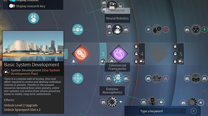 There are three tier 3 technologies missing in order to unlock tier 4 Economy and Trading. - Technologies in Endless Space 2 - Gameplay basics - Endless Space 2 Game Guide