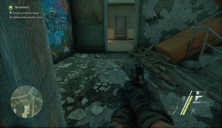 Reach the upper floor and you will come across blocked stairs - Blockout | Act 1 | Walkthrough - Act 1 - Sniper: Ghost Warrior 3 Game Guide
