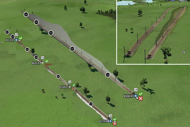The difference in costs when building roads or railways can be tremendous, if they are planned incorrectly. However, a cheaper section can often be curved or uneven. - Building roads, railways, ports and airports - Tips and Playthrough description - Transport Fever Game Guide