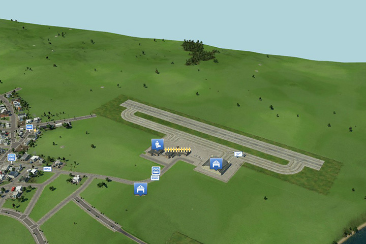 Airports require vast amounts of space, so it is best to build them in the outskirts of cities, perhaps even with some distance between the airport and the buildings - Building roads, railways, ports and airports - Tips and Playthrough description - Transport Fever Game Guide