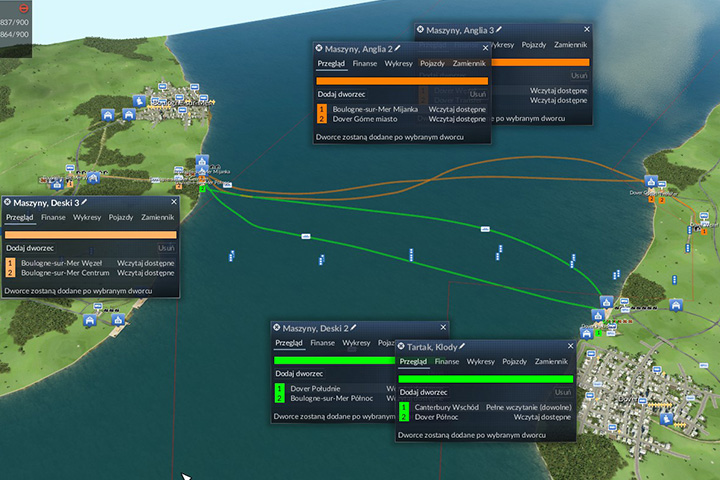 An example of connection scheme for plank and machine transport - Mission 7 - English Channel | European Campaign - European Campaign - Transport Fever Game Guide