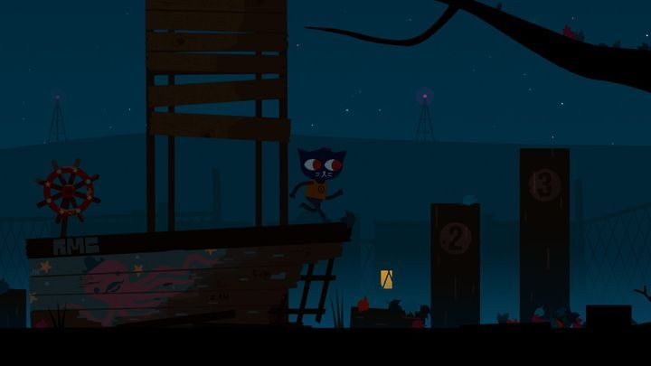 To proceed on, you have to jump smoothly onto the tree. - Prologue | Walkthrough - Walkthrough - Night in the Woods Game Guide