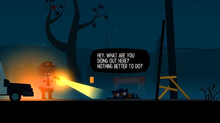 Eventually, a policeman will drive you home. - Prologue | Walkthrough - Walkthrough - Night in the Woods Game Guide