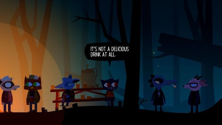 Party in the woods. - Chapter 1 | Walkthrough - Walkthrough - Night in the Woods Game Guide