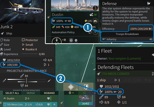 Military power is created by the number of sailors/crew (the icon of a person with a small ship) on a ship or garrisons in systems (the icon of a person with a small planet). - Manpower in Endless Space 2 - Gameplay basics - Endless Space 2 Game Guide