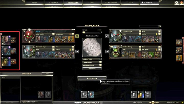The currently selected elites are visible near the left side of the screen. - Elite points and elite units - Gameplay - Warhammer 40,000: Dawn of War III Game Guide