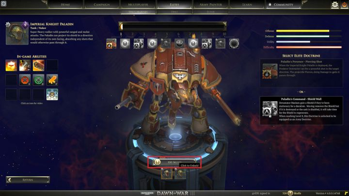 New elite units must first be unlocked. - Elite points and elite units - Gameplay - Warhammer 40,000: Dawn of War III Game Guide
